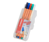Stabilo Fineliner point 88 Killerset, 5er Etui