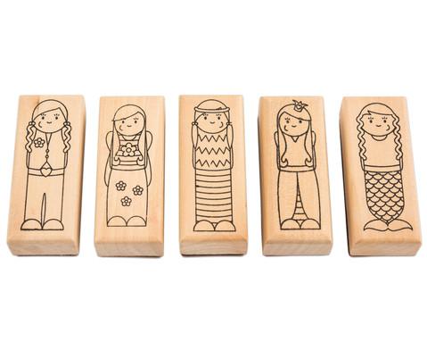Holzstempel Was ist los Maedchen und Jungs 5-teilig-3