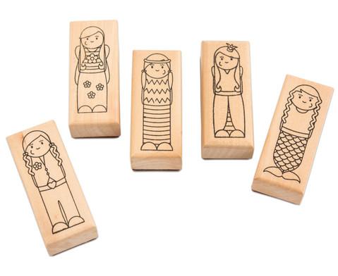 Holzstempel Was ist los Maedchen und Jungs 5-teilig-4