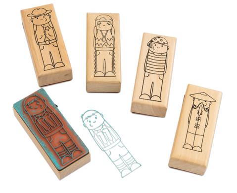 Holzstempel Was ist los Maedchen und Jungs 5-teilig-5
