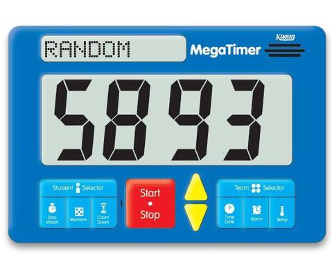 Zeitdauer-Uhr Digital Mega-3