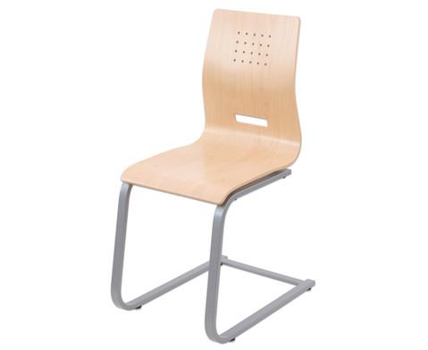 Schuelerstuhl mit Buchenholz-Schale ohne Sitzpolster