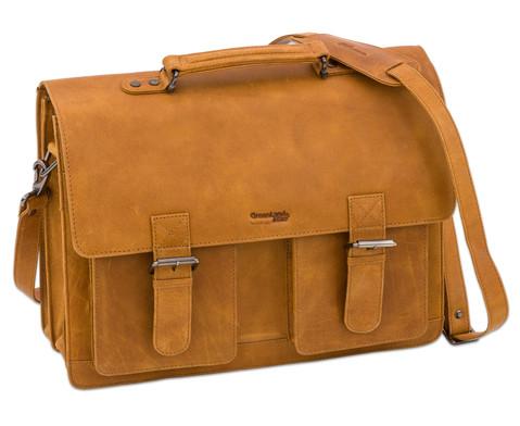 Lehrertasche aus Bueffelleder mit Schulterriemen