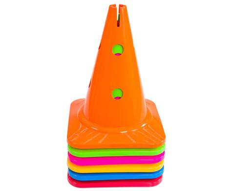 Spielkegel Regenbogen-Set 6 Stueck-3