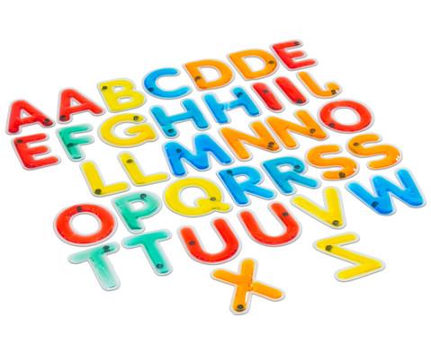Buntes Grossbuchstaben-Set fuer den Lichttisch