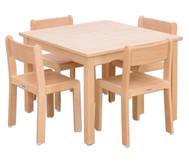 Möbel-Set Quadro Sitzhöhe 30 cm, Tischhöhe 52 cm Ahorn