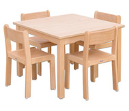 Möbel-Set Quadro Sitzhöhe 42 cm, Tischhöhe 70 cm, Ahorn