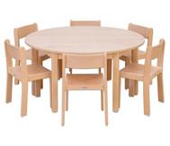 Möbel-Set Rondo Sitzhöhe 30 cm, Tischhöhe 52 cm, Ahorn