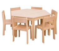 Möbel-Set Trapo Sitzhöhe 30 cm, Tischhöhe 52 cm, Ahorn
