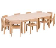 Möbel-Set Kusuma, Sitzhöhe 26 cm, Tischhöhe 46 cm, Ahorn