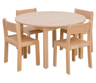 Möbel-Set Rondino Sitzhöhe 42 cm, Tischhöhe 70 cm