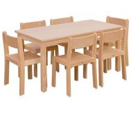 Möbel-Set Orthino Sitzhöhe 42 cm, Tischhöhe 70 cm