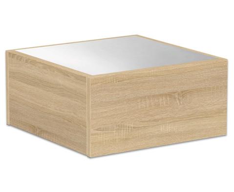 Kleines Podest - Quadrat mit Spiegel 50x50cm