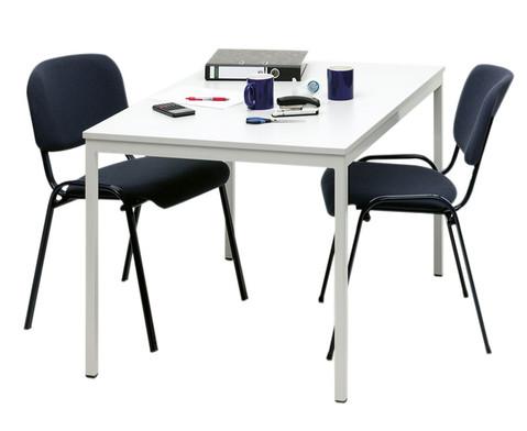 Stahlrohrtisch quadratische Tischbeine 160 x 80 cm