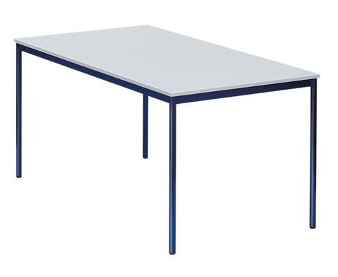 Stahlrohrtisch runde Tischbeine 140 x 70 cm