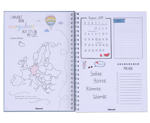 Betzold Design-Schulplaner 2019-2020 Ringbuch DIN A4-4