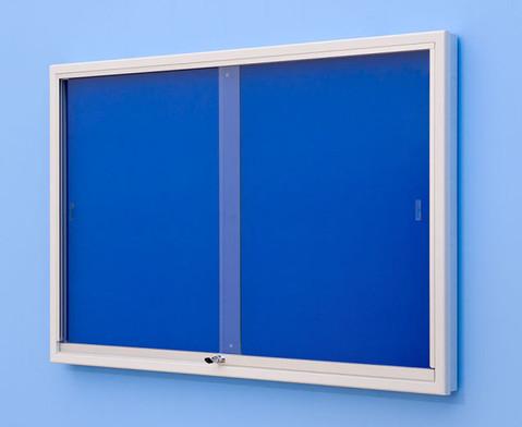 Info-Vitrine 195 cm breit mit Stahlrahmen 15 RAL-Farben-4