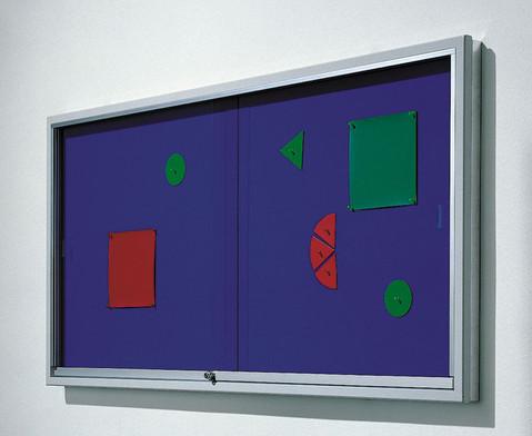 Info-Vitrine 195 cm breit mit Stahlrahmen 15 RAL-Farben-1