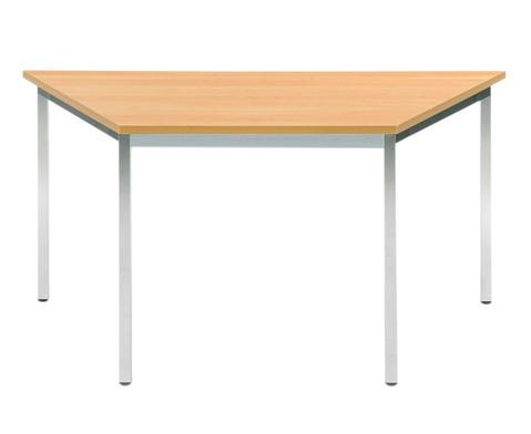 Vielzweck-Trapez-Tisch 160 x 80 x 80 mit runden Tischbeinen