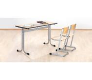 Zweier-Tisch, Tischhöhe: 76 cm