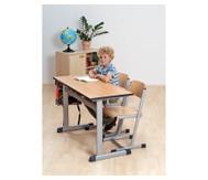 L-Fuß Zweier-Tisch, Tischhöhe: 70 cm