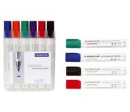 Staedtler Abwischbare Tafelschreiber, 6 Farben im Etui