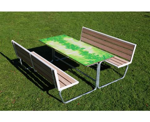 Betzold Sitzgruppe gruenes Klassenzimmer Sitzflaechen mit Holzeinsatz