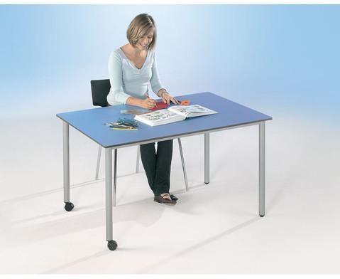 Varimax Rechteck-Tisch II fahrbar hoehenverstellbar von 58-72 cm