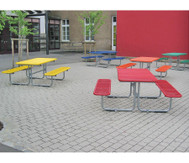 Outdoor mit Drahtgitter-Tisch, 6-8 Plätze Tisch-Sitz-Kombination