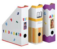 4 Stehsammler weiß aus Karton