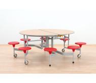 8er-Tisch-Sitz-Kombination oval, Sitzhöhe 38,5 cm