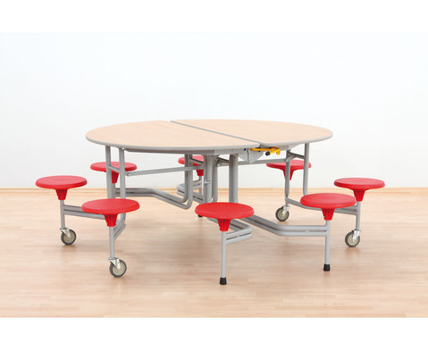 8er-Tisch-Sitz-Kombination oval Sitzhoehe 435 cm