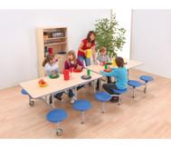 12er-Tisch-Sitz-Kombination rechteckig,Sitzhöhe 36 cm