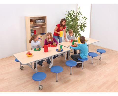 12er-Tisch-Sitz-Kombination rechteckig Sitzhoehe 385 cm
