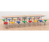 16er-Tisch-Sitz-Kombination rechteckig,Sitzhöhe 34 cm