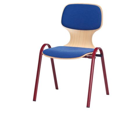 Stapelstuhl Basis ohne Armlehnen Sitz  Ruecken gepolstert