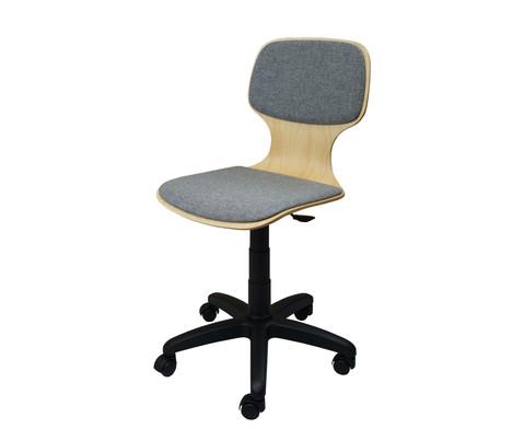 Fachraumstuhl fahrbar mit Sitz- und Ruecken-Polster