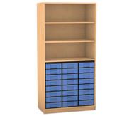 Flexeo Regal, 3 Fächer, 24 kleine Boxen HxB: 190 x 94,4 cm