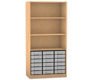 Flexeo Regal, 3 Fächer, 18 kleine Boxen HxB: 190 x 94,4 cm