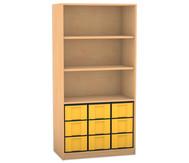 Flexeo Regal, 3 Fächer, 9 große Boxen HxB: 190 x 94,4 cm