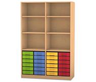 Flexeo Regal, 6 Fächer, 24 kleine Boxen HxB: 190 x 126,4 cm