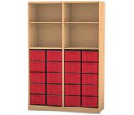 Flexeo Regal, 4 Fächer, 20 große Boxen HxB: 190 x 126,4 cm