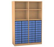 Flexeo Regal, 4 Fächer, 40 kleine Boxen HxB: 190 x 126,4 cm