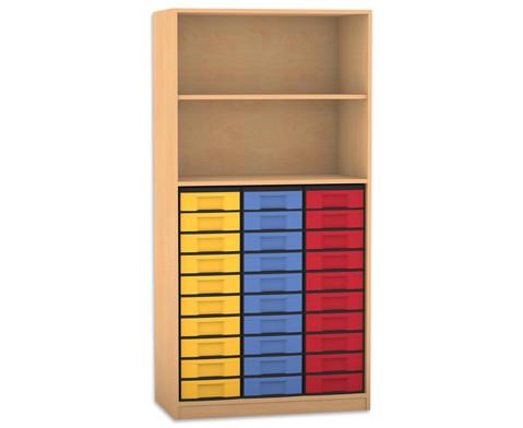 Flexeo Regal 2 Faecher 30 kleine Boxen HxB 190 x 944 cm