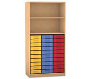 Flexeo Regal, 2 Fächer, 30 kleine Boxen HxB: 190 x 94,4 cm