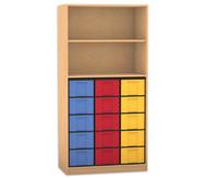 Flexeo Regal, 2 Fächer, 15 große Boxen HxB: 190 x 94,4 cm