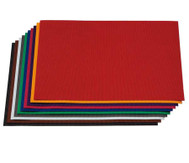 10 Bogen Bastelwellpappe  50 x 70 cm.