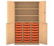 Flexeo Halbtürenschrank mit 24 Gratnells-Boxen und 4 Halbtüren