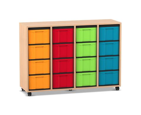 Flexeo Regal 4 Reihen 16 grosse Boxen