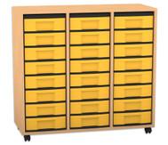 Flexeo Regal, 3 Reihen, 24 kleine Boxen HxBxT: 92,3 x 98,6 x 40,8 cm